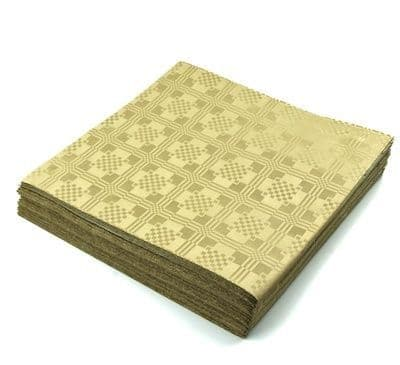 25 Gold Recycled Biodegradable Metallic Tablecovers