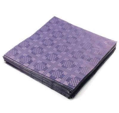 25 Recycled Biodegradable Purple Tablecovers