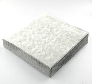 25 Recycled Biodegradable White tablecovers