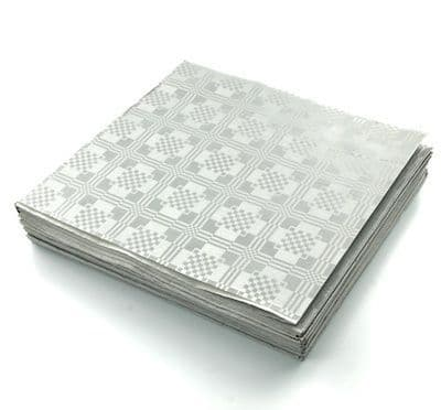 25 Silver Recycled Biodegradable Metallic Tablecovers