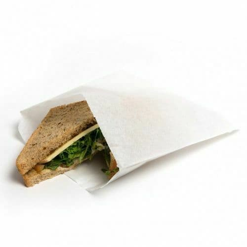 Grease Resistant Paper Bags - White