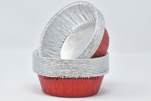 Red Round Lacquered Individual 'Pukka' Pie Foils