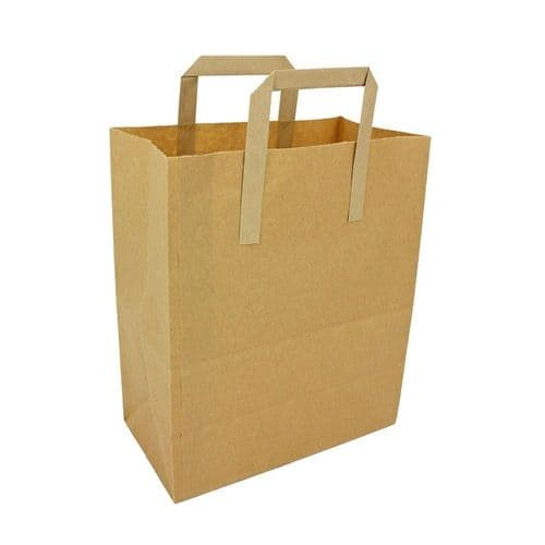 Small SOS Kraft Paper Brown Shopping Bags With Handles