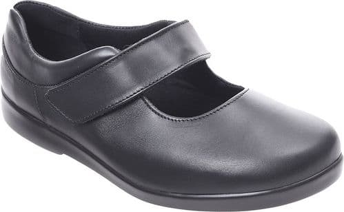 Cosyfeet CU Extra Roomy (6E Fitting) Audrey Leather Touch-Fastening Shoe