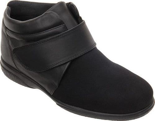 Cosyfeet UC Extra Roomy (6E Fitting) Julia Stretchy Touch-Fastening Ankle Boot