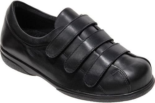 Cosyfeet UD Extra Roomy (6E Fitting) Alison Leather Touch-Fastening Shoe