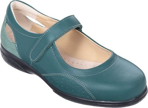 Cosyfeet UF Extra Roomy (6E Fitting) Paradise Leather Touch-Fastening Shoe