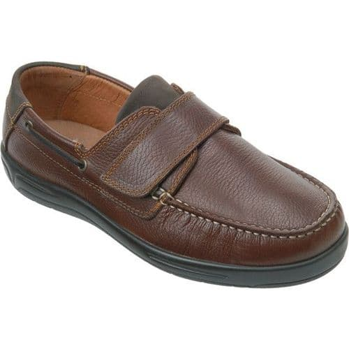 Cosyfeet VU Extra Roomy (3H Fitting) Woody Leather Touch-Fastening Shoe
