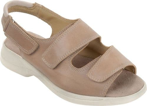 Cosyfeet WQ Extra Roomy (6E Fitting) Sunny Nubuck Touch-Fastening Sandal