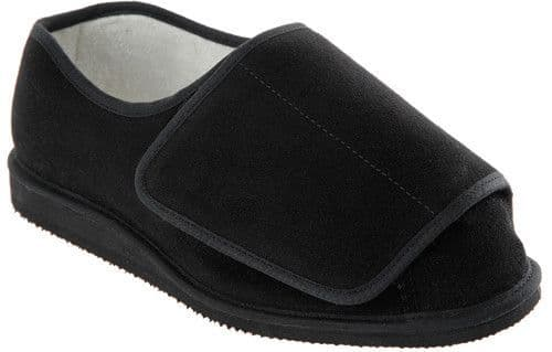 Cosyfeet XW Extra Roomy (3H Fitting) Rowan Suede Unisex Touch-Fastening Slipper-Shoe