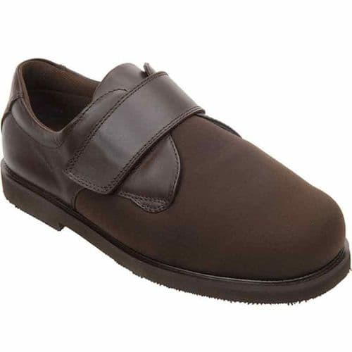 Cosyfeet YR04 Extra Roomy (HH+ Fitting) Roy Stretchy Touch-Fastening Shoe - Brown