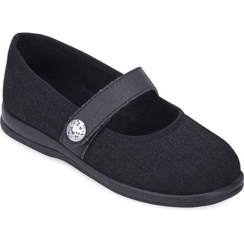 Cosyfeet G6 Extra Roomy (6E Fitting) Koryl Fabric Touch-Fastening Shoe