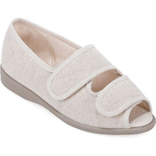 Cosyfeet H5 Extra Roomy (6E Fitting) Mollie Fabric Touch-Fastening Sandal