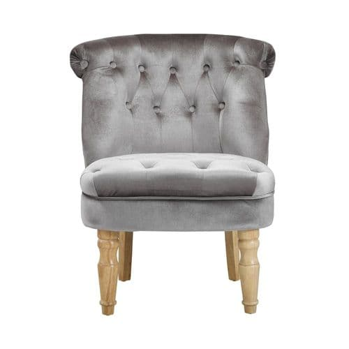 AXE 149(1)Accent Chair Silver Plush Velvet  from Denelli