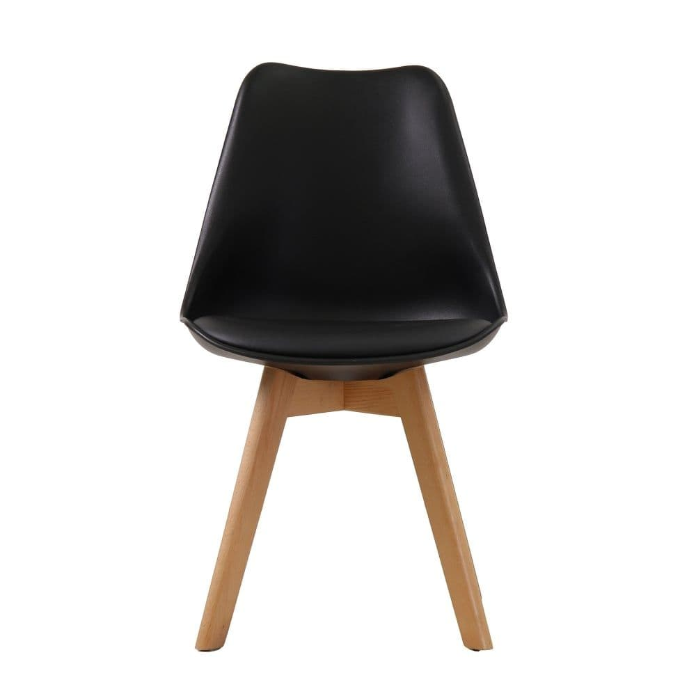 AXE CH119 (2) Black Chairs(Pair) From Denelli