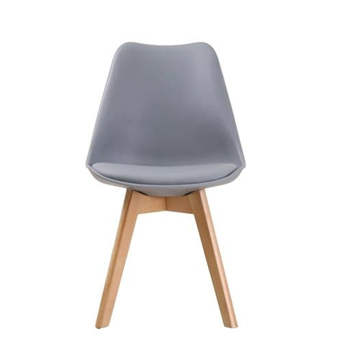 AXE CH119 (2) Grey  Chairs From Denelli