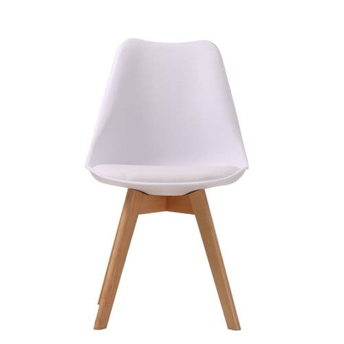 AXE CH119 (2) White  Chairs From Denelli