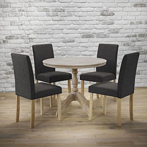 AXE  DT104  Dining table &  AXE 105 Chairs 1(Charcoal)By Denelli