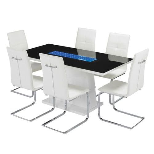 AXE  DT129  Dining table(White) &  AXE 156 Chairs By Denelli