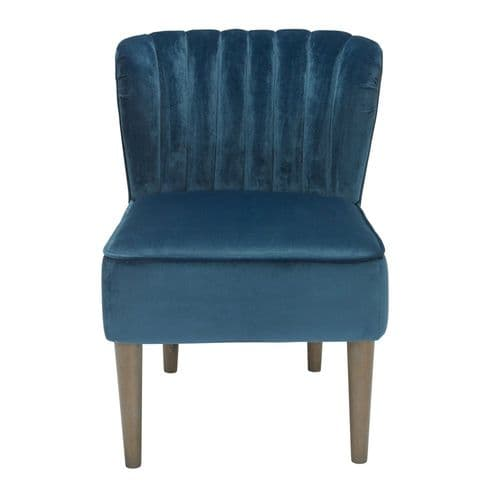 AXE151 -Plush Velvet  Blue Accent Chair By Denelli