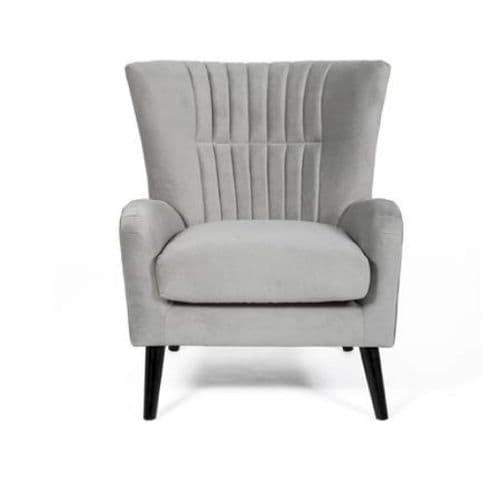 Home Essential ORB 123 Plush Grey  Accent Chair