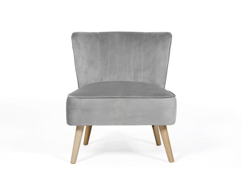 Home Essential UOL 123 Plush Grey Accent Chair (2) (3)