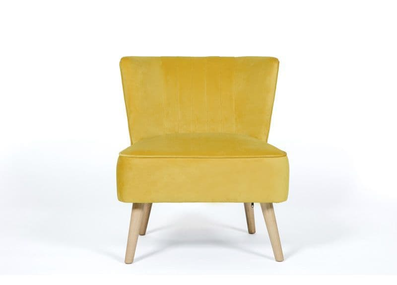 Home Essential UOL 123 Plush Mustard  Accent Chair (2)