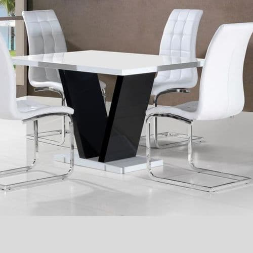 JP DT101 Dining table White Gloss (Small)& JP CH250 White Chairs By Jesse plana