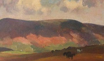 Gyrth Russell Original Oil Painting Irish Moorland With Ponies