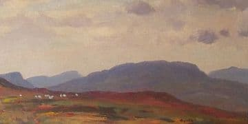 Gyrth Russell Original Oil Painting Irish Moorland With Sheep