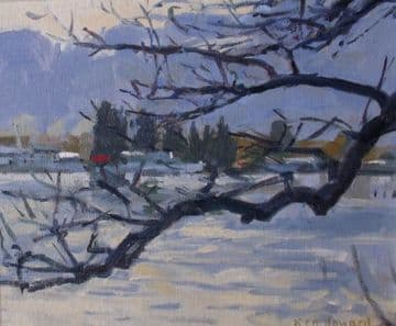 Ken Howard Original Oil Painting Winter Landscape