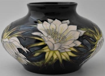 Moorcroft Pottery Queen Of The Night Vase Designed By Anji Davenport