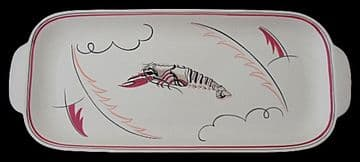 Poole Pottery Crayfish Tray By Truda Carter