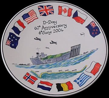 Poole Pottery Studio D-Day Commemorative Dish