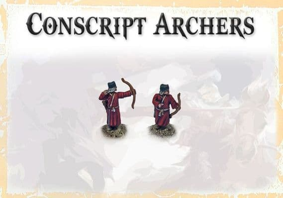 Three Kingdoms Chinese Conscript Archers - VARIETY PACK