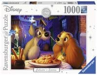 Disney Collector's Edition 1000 Piece Jigsaw Puzzle: Lady and the Tramp