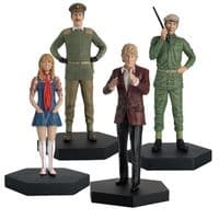 Doctor Who Figurine Collection Companion Set: The Third Doctor, Jo Grant, The Brigadier & SGT Benton