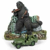 Johnny Lightning - Godzilla Ground Assault! Willys MB Jeep & Diorama