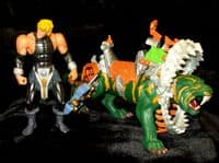 MOTU 200X Masters of the Universe: He-Man & Mecha-Bite Battle Cat - Loose Action Figures