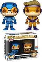 Pop! DC Super Heroes 2-Pack: Blue Beetle & Booster Gold - PX Exclusive METALLIC!!