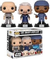 Pop! Star Wars: Lobot, Ugnaught & Bespin - 3-Pack - Walmart Exclusive (Silver 'Exclusive' Sticker)