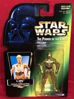 Star Wars Power of the Force: C-3PO - Green Card - Sealed on Card