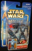 Star Wars Saga AOTC: Super Battle Droid - Action Figure - Sealed on Card