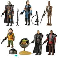 Star Wars The Retro Collection Wave 3 - The Mandalorian - Full Set of 7 Figures