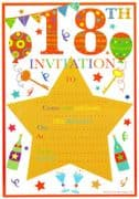 18th Birthday Party Invitations - 20 Pack
