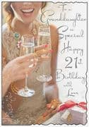 21st Granddaughter Birthday Card