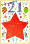 21st Birthday Party Invitations - 20 Pack
