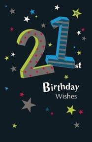 21st Wishes Birthday Card