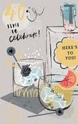 40th Here's To You Birthday Card