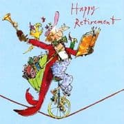 Gents Quentin Blake Retirement Card - Time to Relax